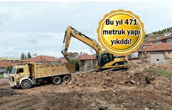 Ankara'daki metruk yapılar yıkılıyor!