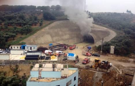 Yüksek Hızlı Tren tünel inşaatındaki yangın söndürüldü!