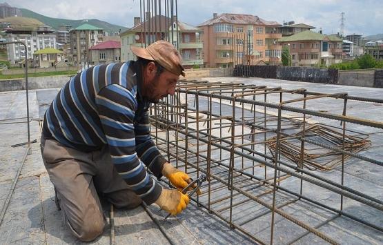 Hakkari'de inşaat işçilerinin