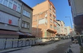 Küçükçekmece'de çökme tehlikesi bulunan 5 katlı bina boşaltıldı!
