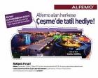 Alfemo Mobilya, müşterisini çekilişsiz kurasız Çeşme'de 5 yıldızlı tatile götürüyor!
