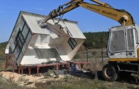 Osmangazi Dağyenice Göleti'nin çevresindeki kaçak yapılar yıkıldı!