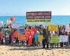 Antalya Valisi Ahmet Altıparmak'ın açıklamalarına Çıralı sahilinde protesto!