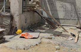 Bursa İnegöl'de 2. kattan düşen inşaat işçisi ağır yaralandı!