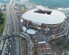TT Arena'nın önündeki park alanı cami oldu!