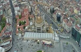 Taksim Camii inşaatında son durum havadan görüntülendi!