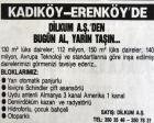 1989 yılında Erenköy'de 150 metrekarelik daireler 150 milyona satılıyormuş!