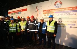Ümraniye-Dudullu-Bostancı Metro Hattı'nın tünelleri birleşti!