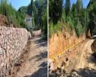 Nushetiye'de grup yoluna taş duvar inşa ediliyor!