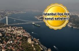 İstanbul'un hangi ilçesinde kaç konut satıldı?