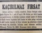 1953 yılında İstinye'de 198 dönüm arazi satılacakmış!