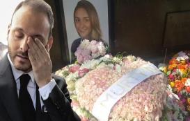 Mina Başaran'ın nişanlısı Murat Gezer mezarlığa güller bıraktı!