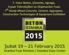 Beton Fuarı İstanbul Fuar Merkezi'nde başladı!