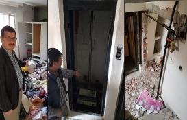Manisa'da tahliye edilen Uzun Apartmanı'na hırsızlık şoku!