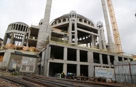 Taksim Camii'nin betonarmesi bitti, ince işçilik başladı!