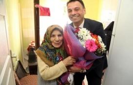 Trabzon'da şehit ailesinin ev mutluluğu!