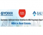 MBA in Real Estate 2016 programı son başvuru tarihi 25 Ağustos!