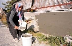 Kayseri'de inşaat ustası muhtar olunca eşi işlerini devraldı!