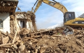 malatyada depremede yıkılan evler