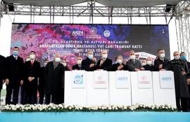 Anafartalar-Şehir Hastanesi-YHT Garı Tramvay Hattı'nın temeli atıldı!