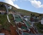 Erzurum'daki atlama pistlerinin onarımı devam ediyor!