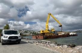 bodrum tilkicik koyu iskele inşaatı