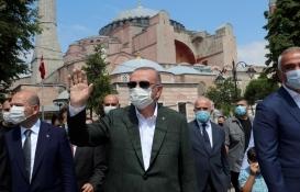 Cumhurbaşkanı Erdoğan'dan Ayasofya Camisi'nde inceleme!
