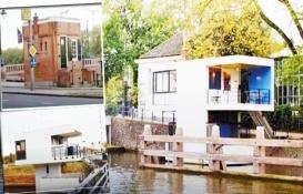 Amsterdam'da bekçi kulübeleri