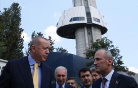 Cumhurbaşkanı Erdoğan, Çamlıca Kulesi'ni inceledi!