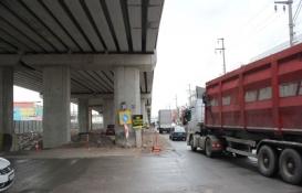 İzmit Sanayi Sitesi'ndeki köprülü kavşak inşaatı durdu!