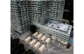 Bogota'da Covid-19 ile mücadele kapsamında sahra hastaneleri kuruldu!