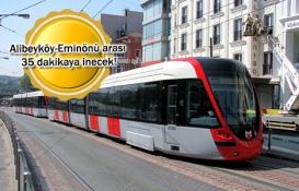 Eminönü-Eyüp-Alibeyköy Tramvay Hattı'nda son durum!