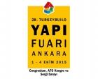 28.Yapı Fuarı–Turkeybuild Ankara 1-4 Ekim'de!