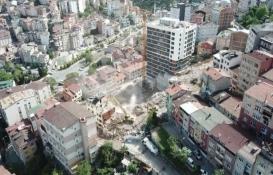 Kağıthane'de 14 bina yıkıldı!