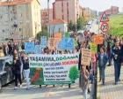 Göçmen Konutları'na inşa edilecek okul için eylem yapıldı!