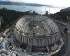Beşiktaş Vodafone Arena'nın çatı kaldırma işlemi yapılıyor!