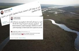 Kanal İstanbul için Arapça tweet atışması!