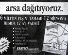 1991 yılında Hadımköy'de arsa dağıtıyorlarmış!