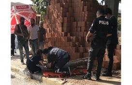 Avcılar'da başına tuğla düşen inşaat işçisi yaralandı!