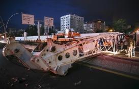 AKM-Kızılay metro inşaatında vinç kazası!