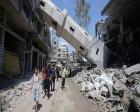 BM'nin Gazze'yi yeniden imar mekanizması protesto edildi!