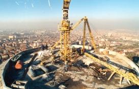 Atakule'nin inşaat fotoğrafları yukarıdan nasıl çekildi?