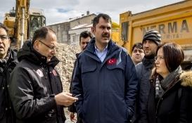 Bakan Murat Kurum yıkım alanını inceledi!