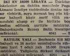 1945 yılında Beykoz'da 7 odalı bir yalı 15 bin liraya satılacakmış!