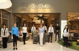Tepe Home 16 mağazasını sağlık önlemleriyle açtı!