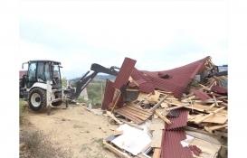 Şile'de 40 kaçak yapının yıkımına başlandı!