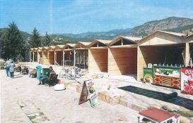Pamukkale'deki kaçak ahşap yapılar kaldırıldı!