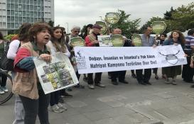 İstanbul'da hafriyat kamyonlarına tepki eylemi!