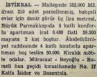 1950 yılında Maltepe'de 382 dönüm arsa metrekaresi 3 liradan satılacakmış!