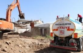 Kırıkkale Yahşihan'da metruk binalar yıkılıyor!